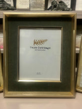 Large Gold and Silver Velvet Frame