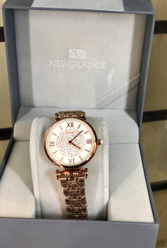 Newgrange Rose Gold Diamond Numeral Ladies Watch