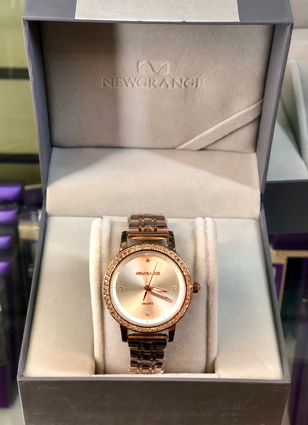 Newgrange Rose Gold Diamond Bezel Ladies Watch