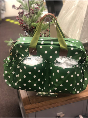 Large Green Spot Baby Changing Bag