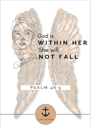 God is in her she will not fall