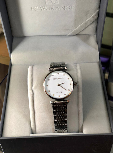 Newgrange Silver Diamond Numeral ladies watch