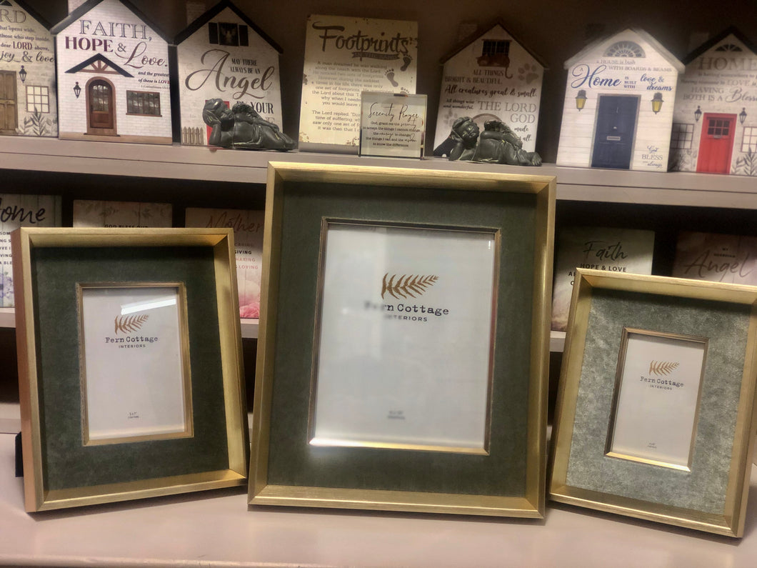 Medium Gold and Silver Velvet Frame