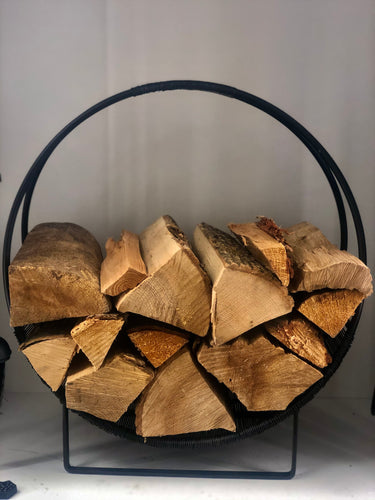 Black Large Circular Log Holder