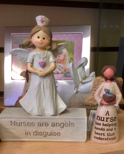 Small Nurse Angel figure Ornament