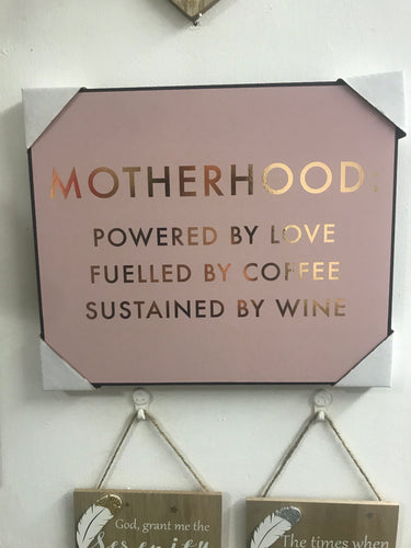 Motherhood Plaque