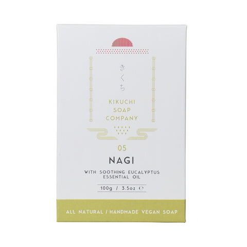 KIKUCHI BAR SOAP CO. 05 NAGI BAR SOAP WITH EUCALYPTUS ESSENTIAL OIL 100ML