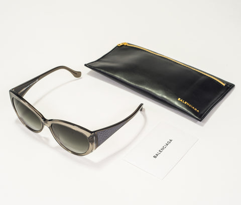 Balenciaga Clear Grey Sunglasses BA0023-20B-58