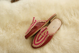 Bordeaux - Moroccan Slip-On