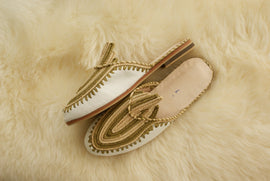 Cream Pistachio - Moroccan Slip-On
