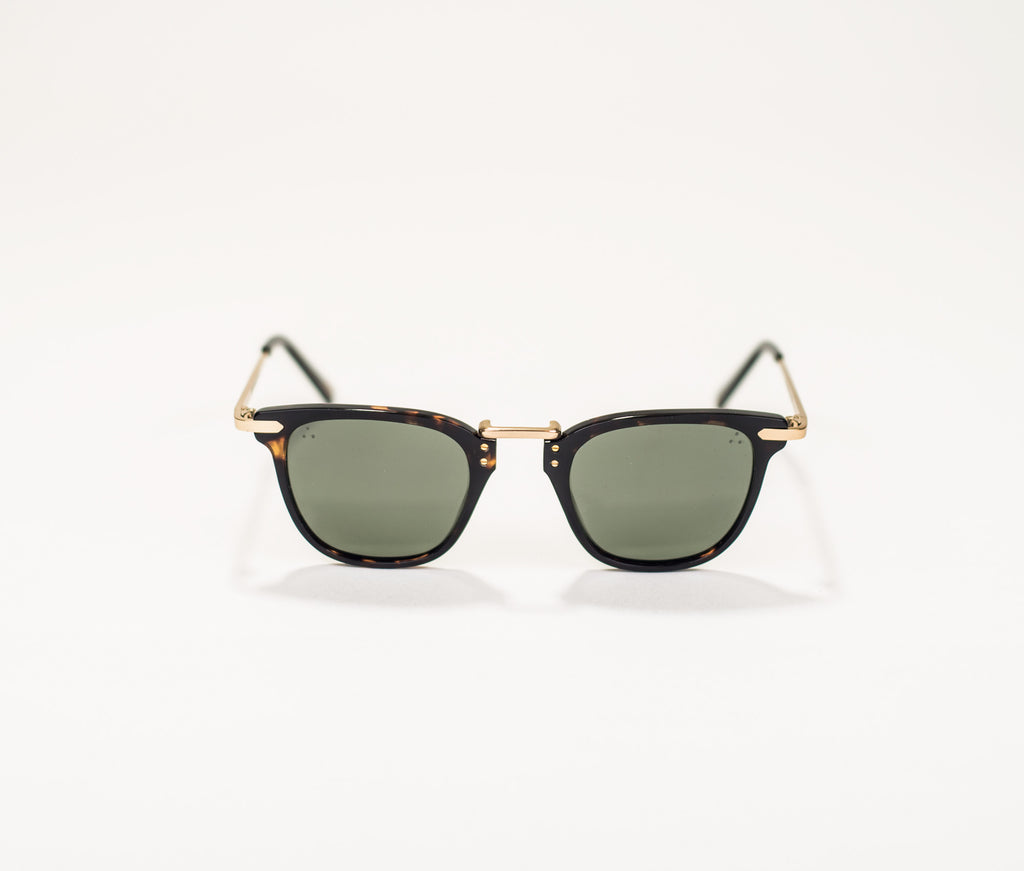 Iron Paris Tortoise and Gold Framed Sunglasses IRS6-001-47