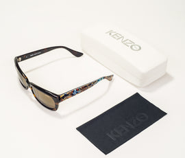 Paris Kenzo Black Brown Sunglasses KZ162-C02-54