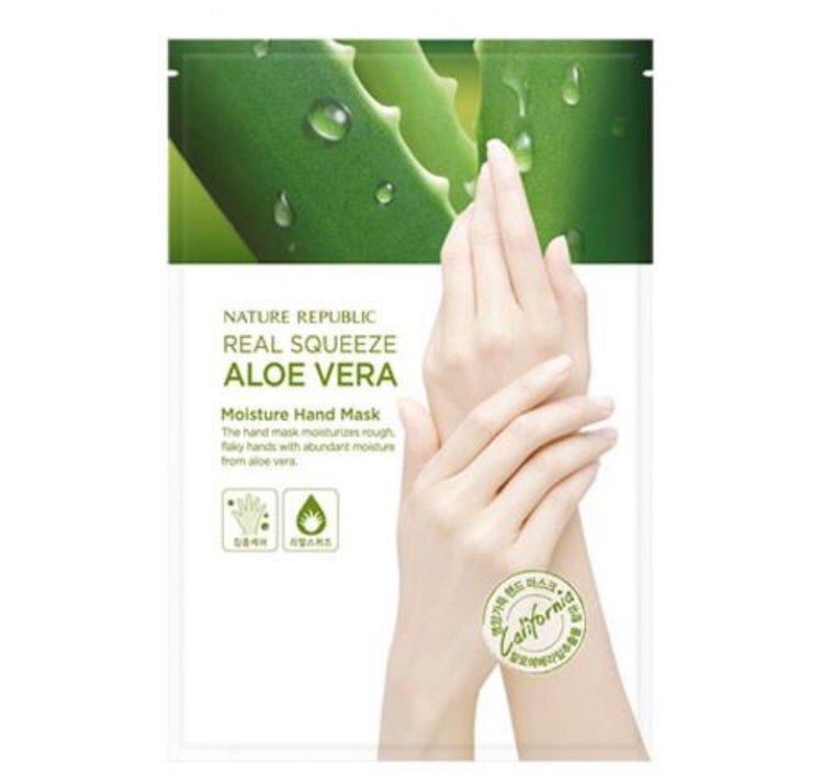 Nature Republic Real Squeeze Aloe Vera Moisturizing Hand Mask 25ml