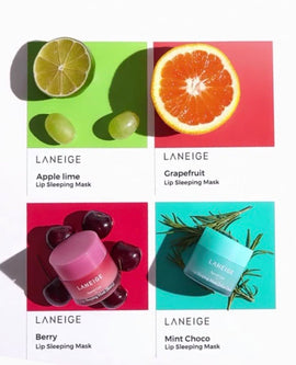 Laneige Lip Sleeping Mask in Berry, Grapefruit, Mint Choco or Apple Lime 20ml