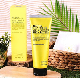 Benton Shea Butter Coconut Body Lotion 250ml & Hand Cream Gift Set