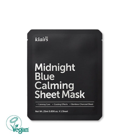 KLAIRS MIDNIGHT BLUE CALMING SHEET MASK 25ML