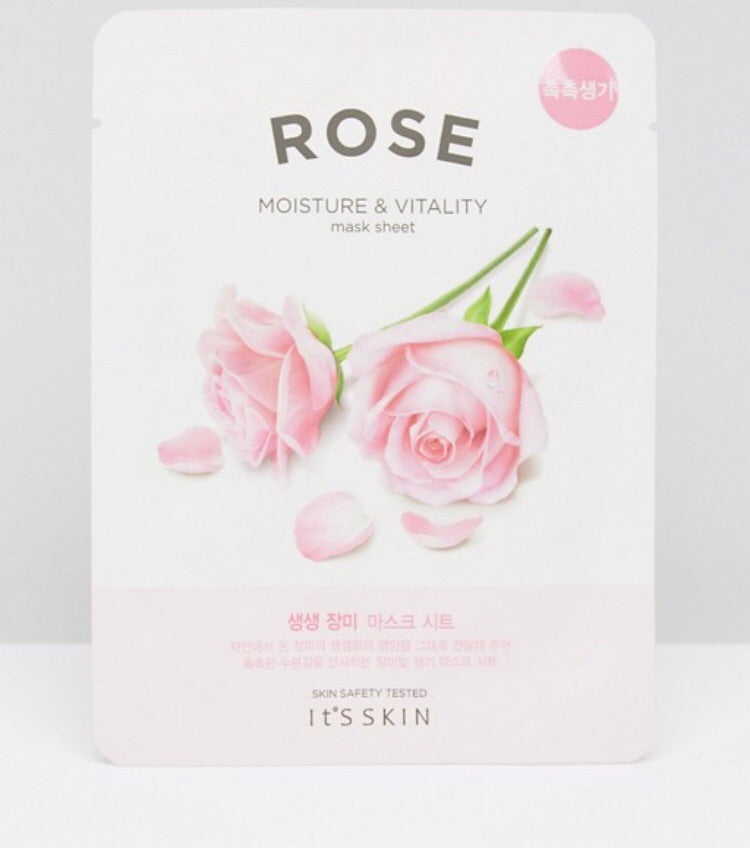 Its Skin Rose Moisture & Vitality Sheet Mask 20ml
