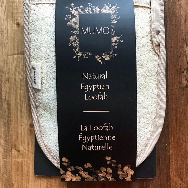 MUMO's Natural Egyptian Loofah Double-Sided Exfoliating Glove