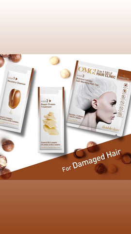 DOUBLE DARE OMG 3-in-1 SELF HAIR CLINIC DAMAGED HAIR 1 SET