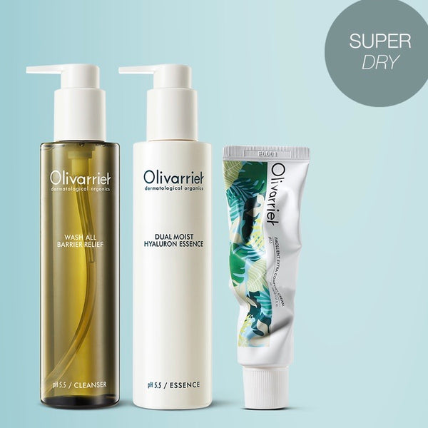(Dry Skin) Olivarrier Barrier Relief 3 Step Skin Routine Gift Set