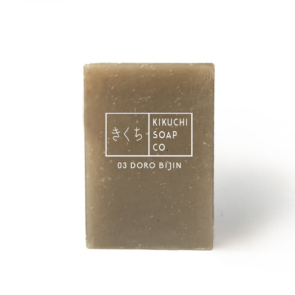 KIKUCHI  SOAP CO 03 DORO BIJIN BAR SOAP WITH PURIFYING SEA CLAY 100ML