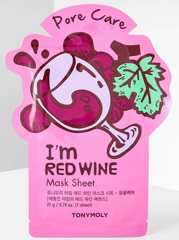 TONYMOLY I'M REAL RED WINE SHEET MASK 20ML