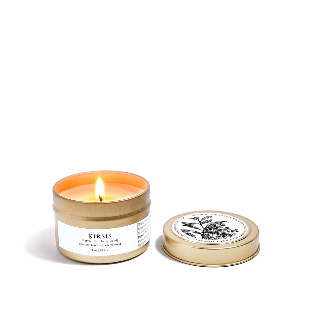 AIJA CHERRY WOOD ORGANIC SOY CANDLE TRAVEL SIZE