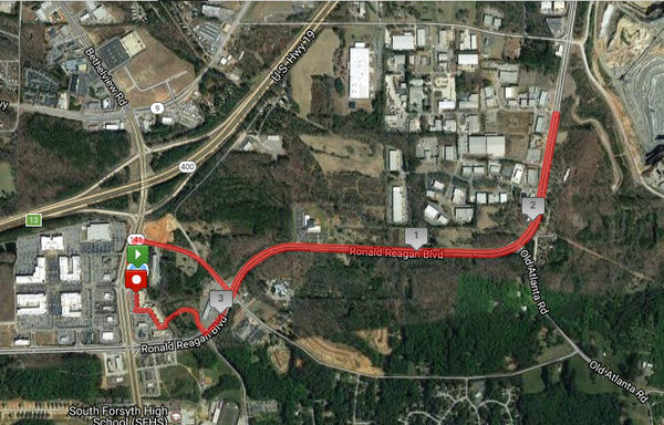 Cupcake Road Race 5k Road Map
