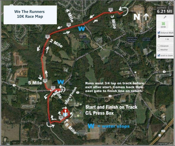 We The Runners 10K Road Map