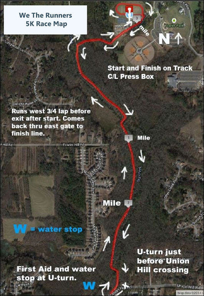 We The Runners 5k Road Map