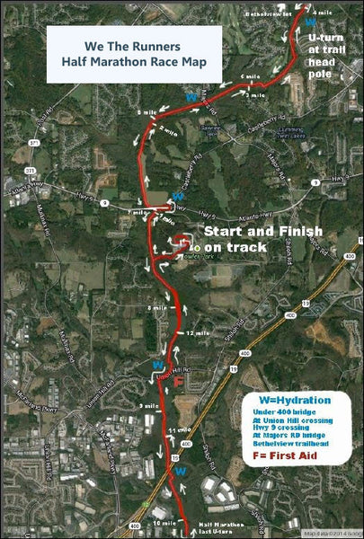 We The Runners Half Marathon Road Map