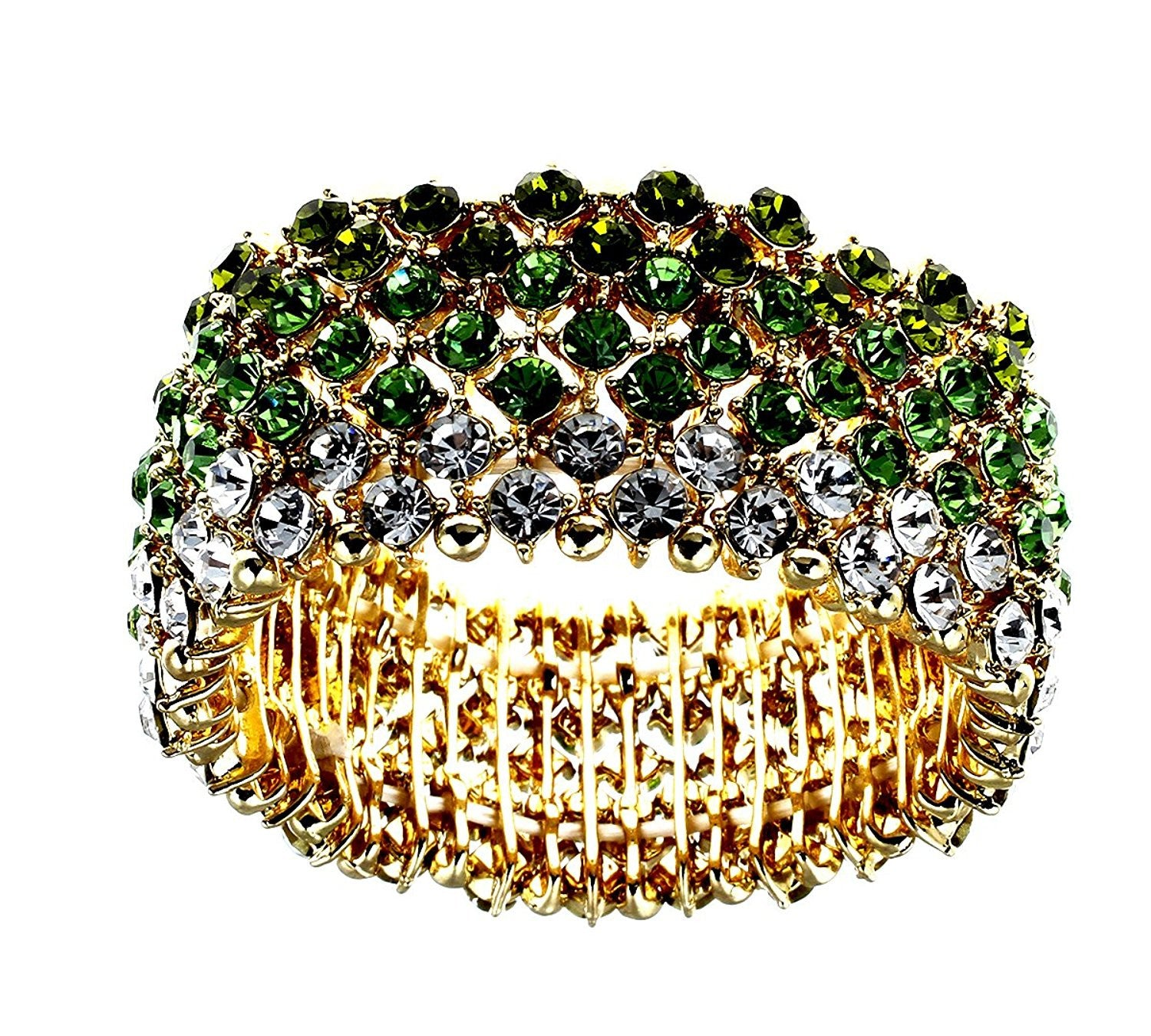 StunningBoutique Swarovski Crystal Bangle Bracelet made with Austrian Crystal Elements for Women 4677e4Mh