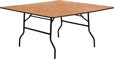 60'' SQUARE Wood Folding Banquet Table