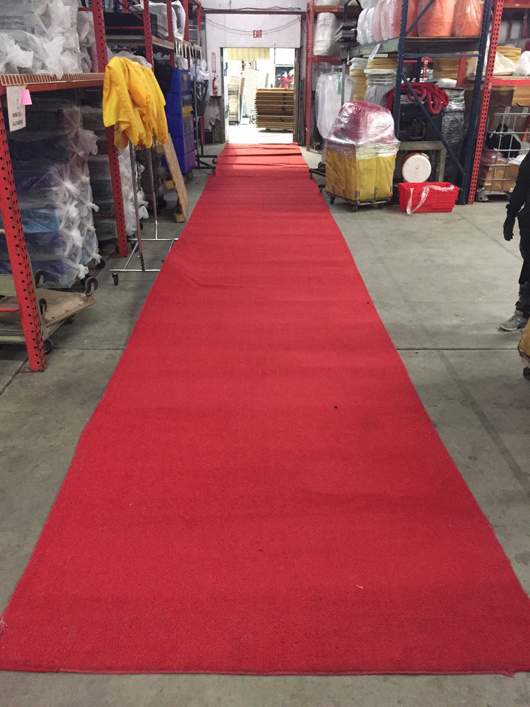 Red Carpet Runner - Event Carpet - 6'x50' - Used