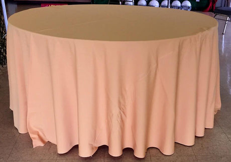 "132"" Round Table Linen Cloth - Gold (New!)"