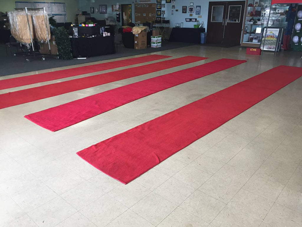 3'x50' Red Carpet Runner - Used