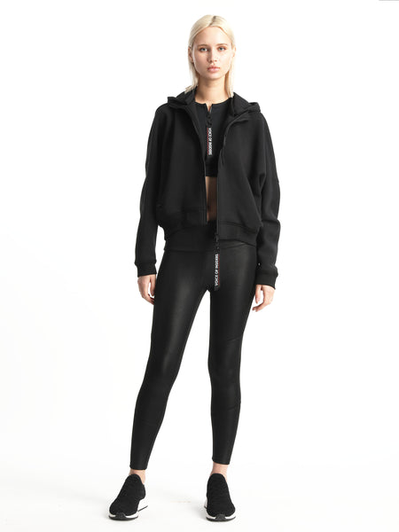 CROPPED DETACHABLE HOODIE JACKET