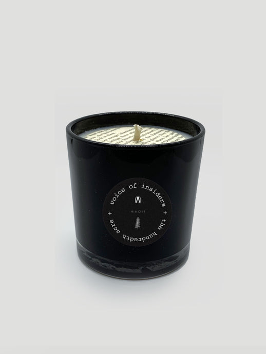 VOICE OF INSIDERS HINOKI CANDLE | VOICEOFINSIDERS.COM