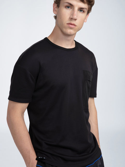 CREW NECK COMBO POCKET TEE