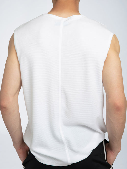 COMBO POCKET SLEEVELESS TEE