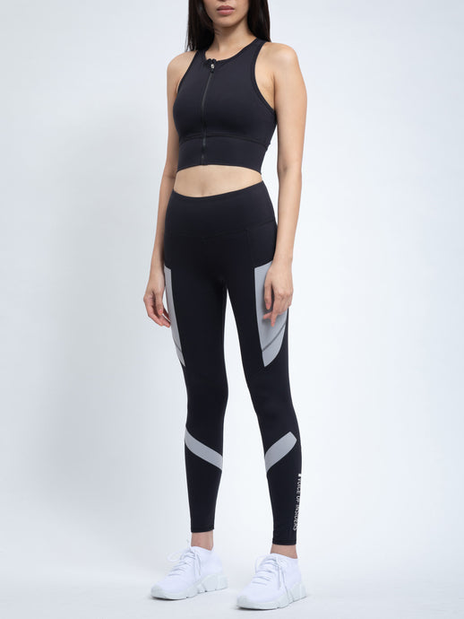 COLOR-BLOCKED SIDE POCKET LEGGING