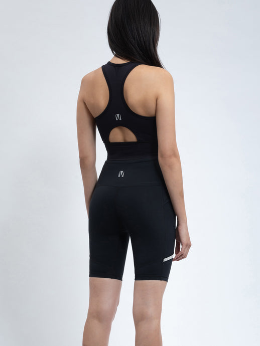FUTURISTIC CYCLE SHORTS IN BLACK