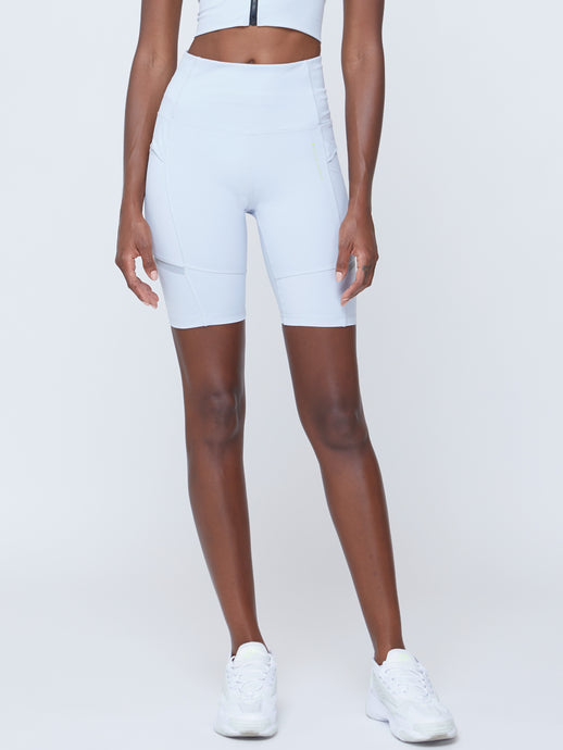 FUTURISTIC CYCLE SHORTS IN GREY DAWN