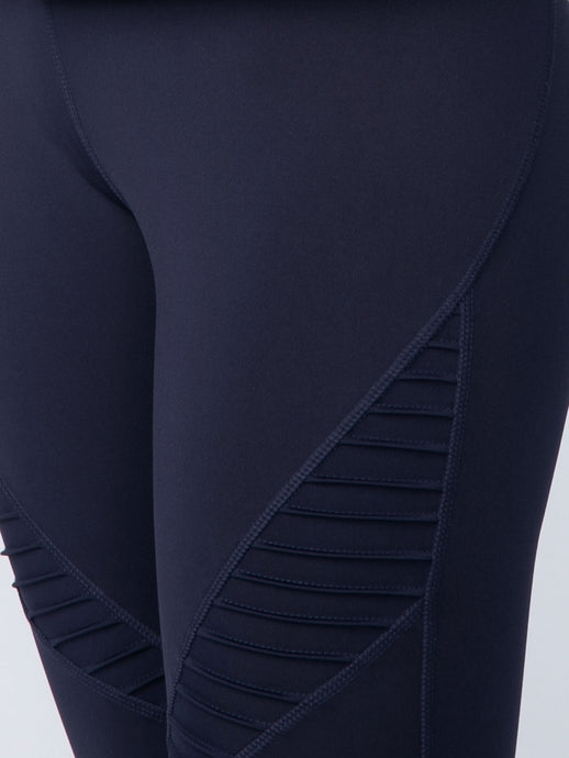 COMPRESSION MESH MOTO LEGGING IN MIDNIGHT