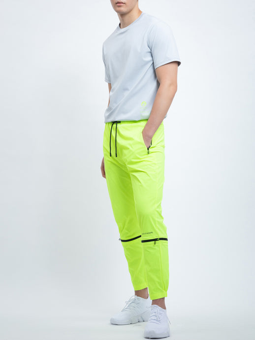 TRANSFORMABLE PANTS IN NEON LIME