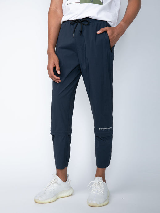 TRANSFORMABLE PANTS IN SLATE