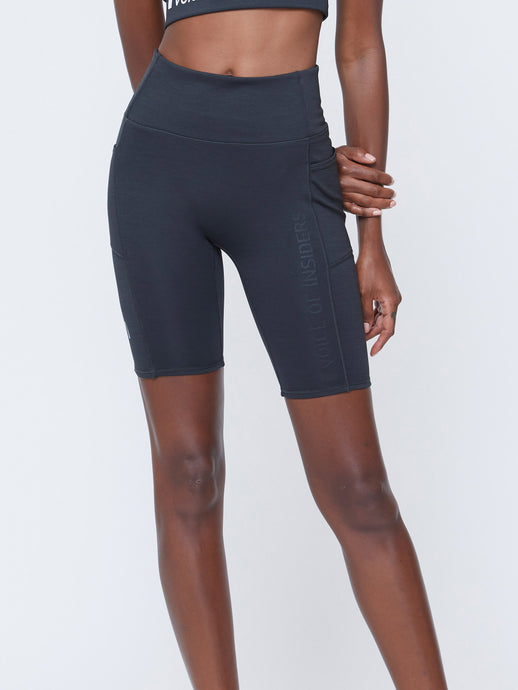 SEACELL CYCLE SHORTS IN BLACK HEATHER
