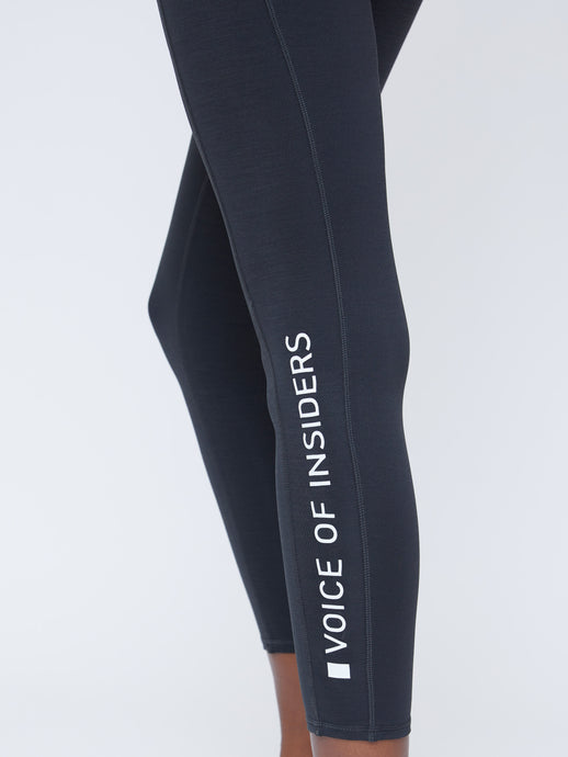 SEACELL PHONE POCKET 7/8 LEGGING IN BLACK HEATHER