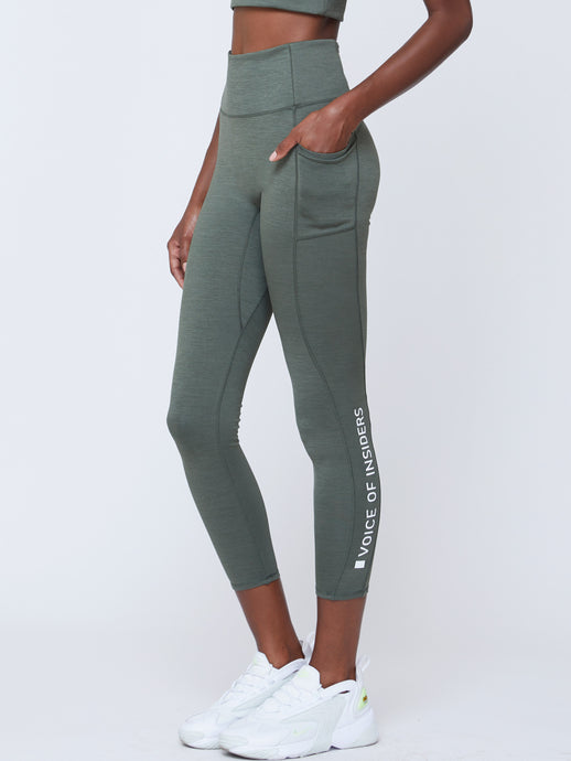 VOICE OF INSIDERS®/SEACELL™ PHONE POCKET 7/8 LEGGING | GREEN HEATHER