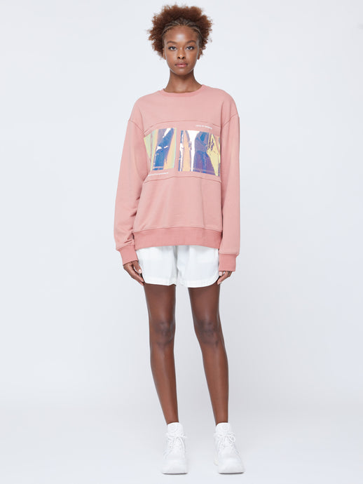 STRATOSPHERE OVER-SIZED UNISEX SWEATSHIRT IN LANTANA